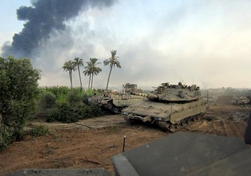 Israelischer Panzer im Gaza-Konflikt 2014, Israel Defense Forces, Lizenztext: dts-news.de/cc-by