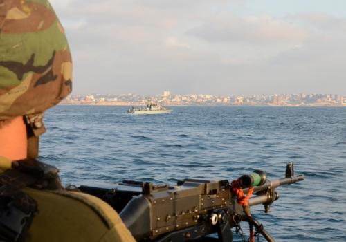 Israelisches Kriegsschiff vor dem Gaza-Streifen, Israel Defense Forces, Lizenztext: dts-news.de/cc-by