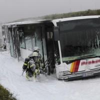 A8 bei Günzburg Bus in Brand