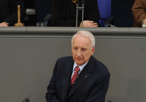 Edmund Stoiber, Deutscher Bundestag  / Meldepress,  Text: über dts Nachrichtenagentur