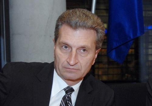 Günther Oettinger, Deutscher Bundestag  / Lichtblick / Achim Melde,  Text: über dts Nachrichtenagentur
