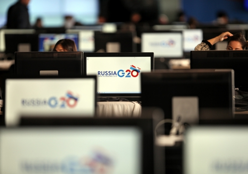 Journalisten beim G20-Gipfel in St. Petersburg, über dts Nachrichtenagentur