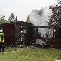 Neu-Ulm, Brand Gartenhütte