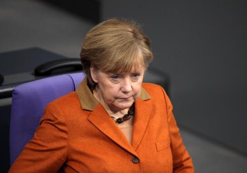 Angela Merkel schaut ahnungslos, über dts Nachrichtenagentur