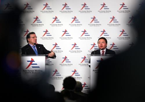 Manuel Barroso und Tsakhiagiin Elbegdorj, über dts Nachrichtenagentur