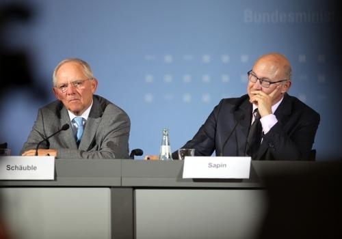 Wolfgang Schäuble und Michel Sapin am 20.10.2014, über dts Nachrichtenagentur