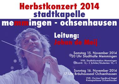 Herbstkonzert Stadtkapelle Memmingen-Ochsenhausen 2014