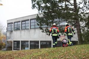 BaWü, Ulm-Einsingen, Brand im Schwimmbad