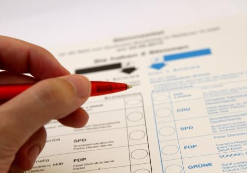 Stimmzettel für die Bundestagswahl am 22.09.2013, über dts Nachrichtenagentur