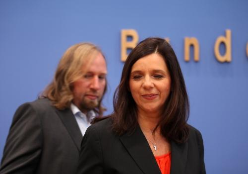 Anton Hofreiter und Katrin Göring-Eckardt am 09.10.13 in Berlin, über dts Nachrichtenagentur