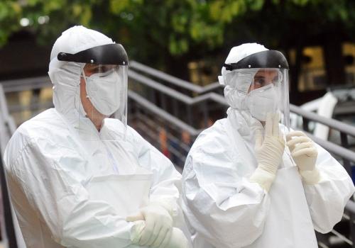 Ebola-Übung, Tânia Rêgo/Agência Brasil, Lizenztext: dts-news.de/cc-by