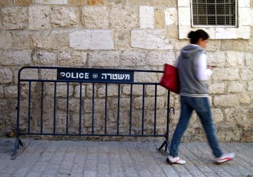 Polizeiabsperrung in Israel, über dts Nachrichtenagentur