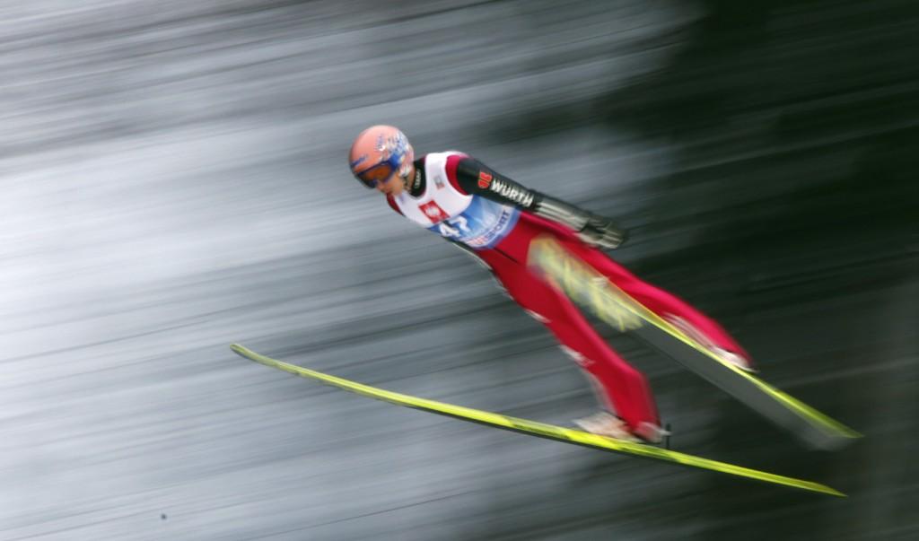 Skispringer in Bischofshofen. Foto: Brigitte Waltl-Jensen, OK Vierschanzentournee