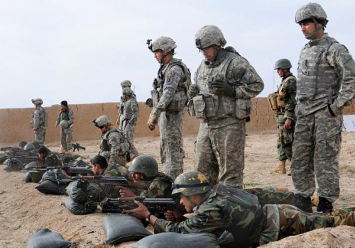 US-Soldaten bei der Ausbildung von afghanischen Truppen, über dts Nachrichtenagentur