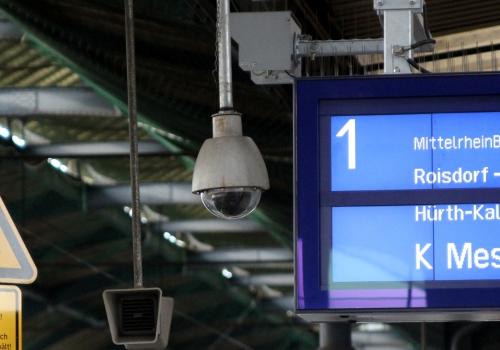 Überwachungskamera am Bonner Hauptbahnhof, über dts Nachrichtenagentur