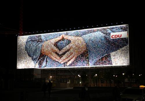 CDU-Wahlplakat mit