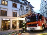 Memmingen - Kellerbrand verraucht Geschäftshaus in der Fußgängerzone