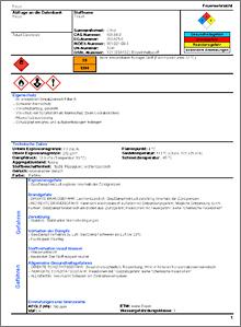 """Auszug aus Ergebnisseite """"Feuerwehr"""" für den Stoff Toluol (PDF) - Quelle: BBK"""