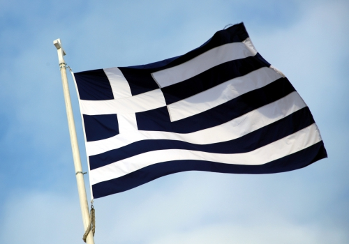 Griechische Fahne, über dts Nachrichtenagentur