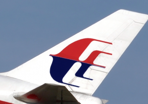 Logo der Malaysian Airlines auf einem Flugzeug, über dts Nachrichtenagentur