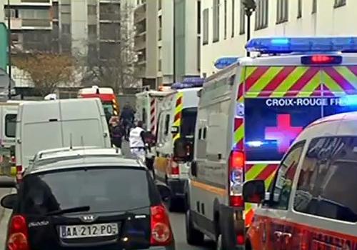 Ort des Terroranschlags in Paris am 07.01.2015, über dts Nachrichtenagentur