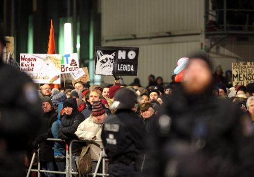 Legida-Gegendemo am 21.01.2015 in Leipzig, über dts Nachrichtenagentur