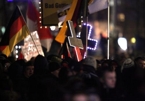 Legida-Demo am 21.01.2015 in Leipzig, über dts Nachrichtenagentur
