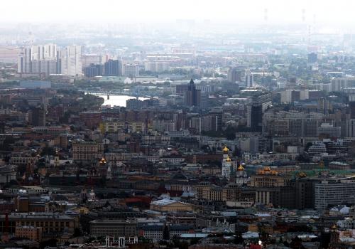 Blick über Moskau mit Moskwa im Hintergrund, über dts Nachrichtenagentur