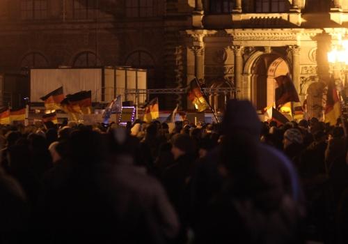 Pegida-Demo, über dts Nachrichtenagentur