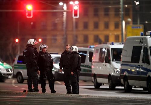 Polizei bei Legida-Demo, über dts Nachrichtenagentur