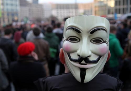Guy-Fawkes-Maske, über dts Nachrichtenagentur