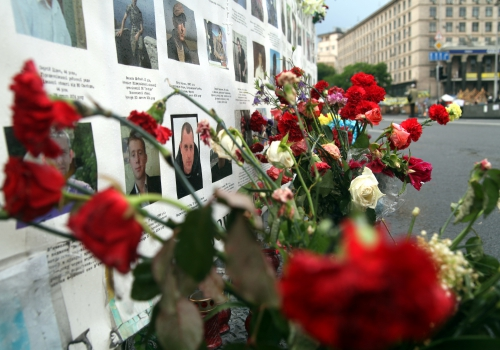 Gedenken an die Opfer der Unruhen in Kiew, über dts Nachrichtenagentur