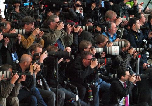 Fotografen bei der Arbeit, über dts Nachrichtenagentur
