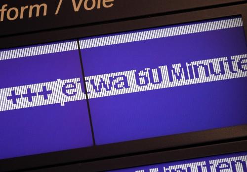 Verspätungs-Anzeige bei der Bahn, über dts Nachrichtenagentur