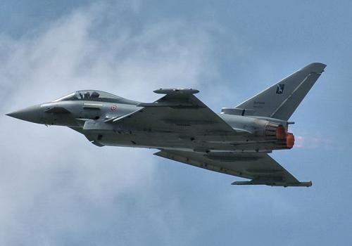 Italienisches Kampfflugzeug vom Typ Eurofighter Typhoon, über dts Nachrichtenagentur