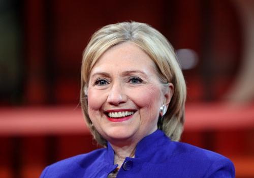 Hillary Clinton am 06.07.2014 bei Günther Jauch, über dts Nachrichtenagentur