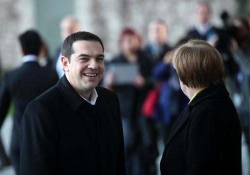 Alexis Tsipras und Angela Merkel, über dts Nachrichtenagentur