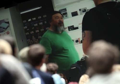 Zuschauer sehen einen Film über Ai Weiwei, über dts Nachrichtenagentur