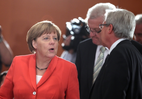 Angela Merkel mit Winfried Kretschmann und Jens Böhrnsen, über dts Nachrichtenagentur
