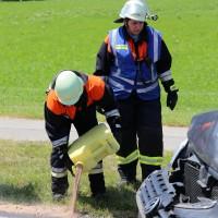 Frontallzusammenstoß-Biessenhofen-B16-11-07-2015-vier-Verletzte-Vollsperrung-Rettungswagen-Notarzt-Ostallgäu-Bringezu-Feuerwehr (13)