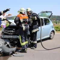 Frontallzusammenstoß-Biessenhofen-B16-11-07-2015-vier-Verletzte-Vollsperrung-Rettungswagen-Notarzt-Ostallgäu-Bringezu-Feuerwehr (19)