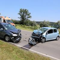 Frontallzusammenstoß-Biessenhofen-B16-11-07-2015-vier-Verletzte-Vollsperrung-Rettungswagen-Notarzt-Ostallgäu-Bringezu-Feuerwehr (6)