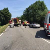 Unfall-11.07.2015-B31-mehrere Verletzte-Rädler-Frontalzusammenstoß (1)