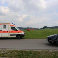 Unfall-Elbsee-Telefonmast-BMW-Seniorin-verletzt-kein Telefon-Mast-abgerissen-Rettungdienst-Hubschrauber-new-facts.eu-Thorsten-Bringezu-Aitrang (15)
