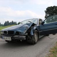 Unfall-Elbsee-Telefonmast-BMW-Seniorin-verletzt-kein Telefon-Mast-abgerissen-Rettungdienst-Hubschrauber-new-facts.eu-Thorsten-Bringezu-Aitrang (3)