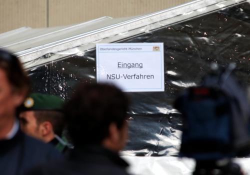 Eingang zum Strafjustizzentrum München während des NSU-Prozesses, über dts Nachrichtenagentur