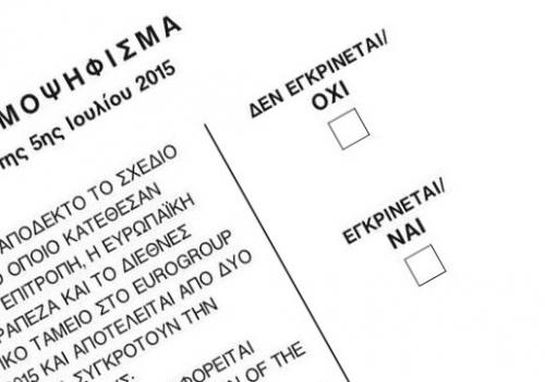 Stimmzettel zum Griechenland-Referendum, über dts Nachrichtenagentur