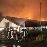 Bad Gršnenbach - Brand eines landwirtschaftlichen Industriebetriebes