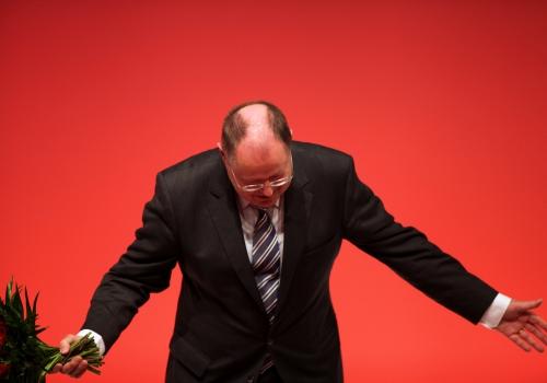 Peer Steinbrück auf dem SPD-Parteitag in Leipzig am 14.11.2013, über dts Nachrichtenagentur