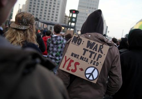 Protest gegen US-Politik und